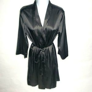 Secret Treasures Black Women's Robe Silky Black XL